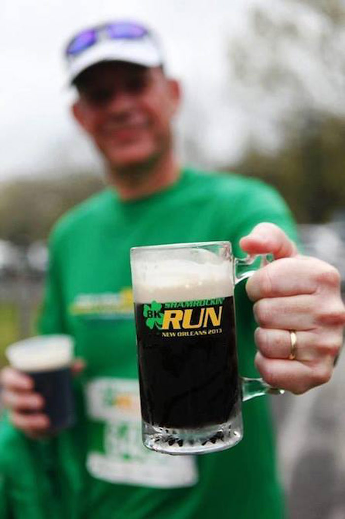 Runner Taking The Guinness Challenge 2017