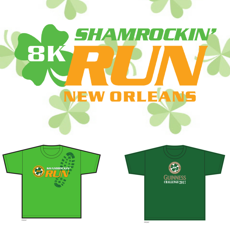 2017 Shamrockin' Run 5th Anniversary Finisher Shirts